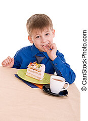 child with cake