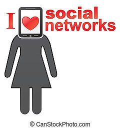 Social networks concept icon. EPS 8 vector illustration