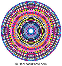 Love and Peace Mandala - Circular pattern background