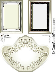 Classic frame with vintage ornament