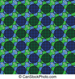 Turtles Pattern Inspired by Escher