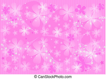 Pink  background with  flowers.