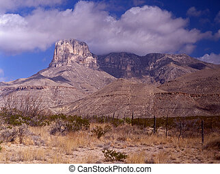 Guadalupe Nat'l Park, TX - the mountains are part of an...