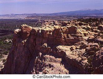 El Malpais National Monument, NM - scenic overlook, over...