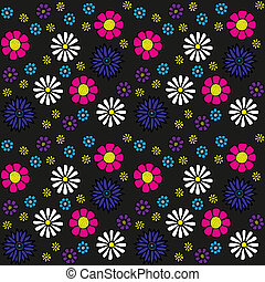 Summery Floral Pattern - Adorable flowers background