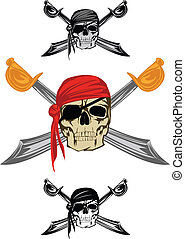 pirate - Piracy skull and crossed sabres