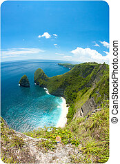 Nusa penida cliff - High cliffs with beach view in Nusa...