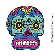 Mexican Skull Art - Sugar skull, dia los muertes