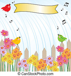 Singing in the Rain shower invitati - Picket fence and...