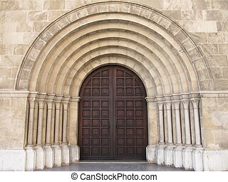 Portico church - roman arquitecture portal church