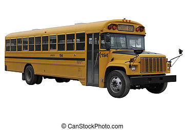 School Bus isolated over a white background