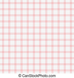 Dainty Baby Pink Plaid - Seamless white and pale pink plaid