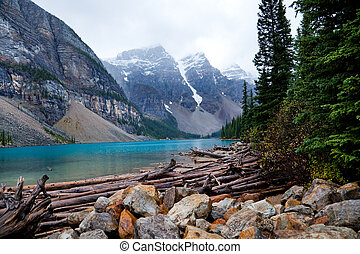 Moraine Lake. Banff National park. Alberta. Canada, Oct....
