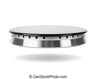 Gas burner - Stove gas burner isolated on a white background