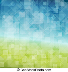 Vector Spring abstract background with place for your text
