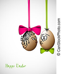 Funny easter eggs - Happy Easter Card - Funny easter eggs...
