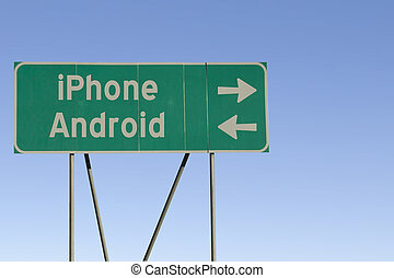 iPhone or Android road sign - What route are you going...