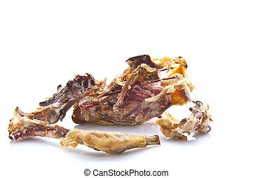 Chicken bones over white