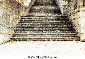 piedra, Escaleras