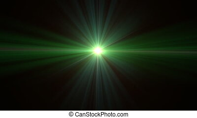 Ufo flare - lens flare special effect with dark background