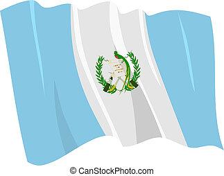 ondulación, bandera, guatemala