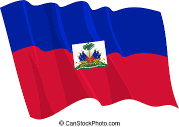 waving flag of Haiti