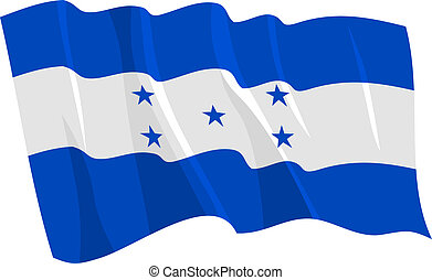 waving flag of Honduras