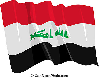 waving flag of Iraq