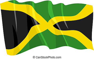 waving flag of Jamaica