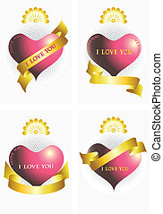 Variants of the heart and ribbons
