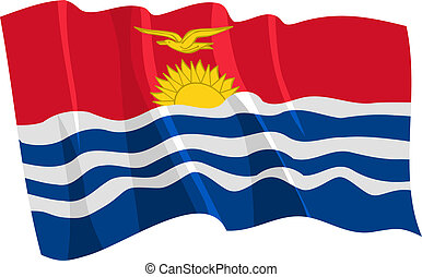 waving flag of Kiribati