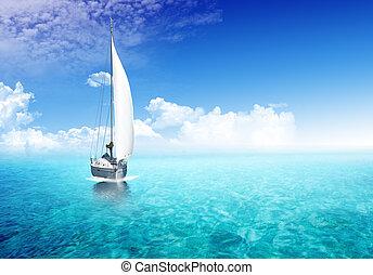 航行, 小船, 海洋