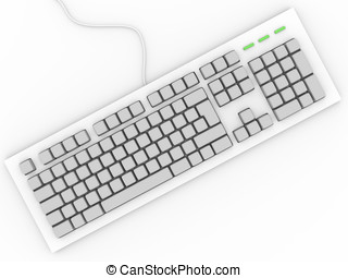 Personal computer keyboard without letters. Input device