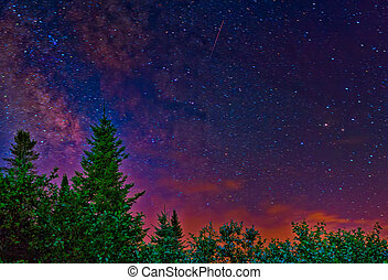Milky night sky - Beautiful milky sky with a lot of stars....