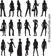 People Silhouettes 2 - Vector Illustration of People...