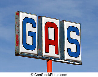 Old Mojave Desert Gas Sign - Old mojave desert gas sign at...