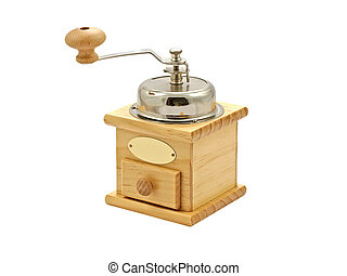 Manual coffee grinder.