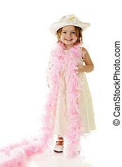 All Gussied Up - A beautiful preschooler all dressed up in...