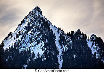 McClellan Butte Snow Mountain Peak Snoqualme Pass Washington...
