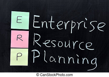 ERP, Enterprise Resource Planning - Chalk drawing - ERP,...