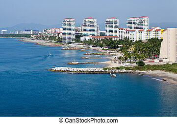 Puerto Vallarta skline and waterfront - The waterfront and...