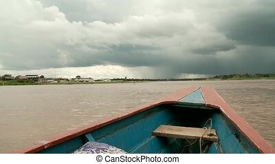Boat On River  - AMAZON, Peru