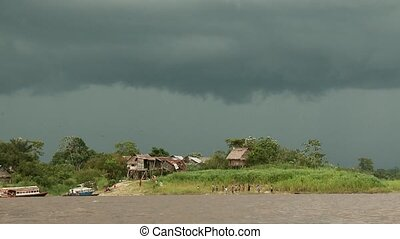 Clouds Over Amazon River, Peru