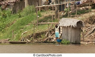 Shanty Town, Southamerica - Slums At Amazon River,...