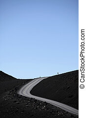mountain road - road leading to the sky