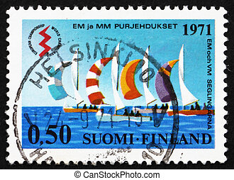 Postage stamp Finland 1994 Sailboats