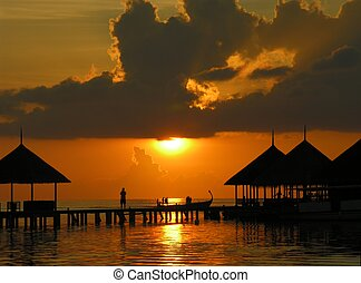 Sunset on Maldives - Sunset on Maldives, Kani island