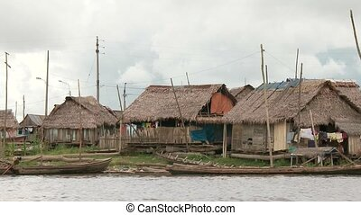 Slum City at Amzon, Southamerica - Slums At Amazon River,...