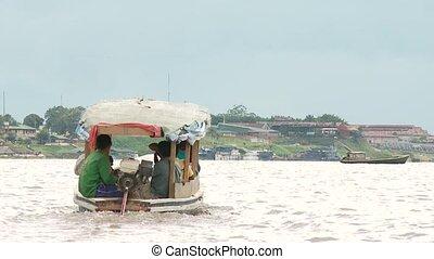 Boat On Amazon River, Peru