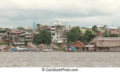 Seaside Of Iquitos, Peru - City Of Iquitos, Peru With Amazon...
